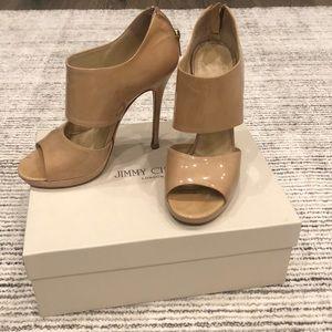 Patent Leather Cream Nude Jimmy Choo Heels